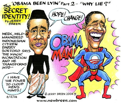 (August 2008) As far back as July 2007, in my most popular Obama cartoon ...