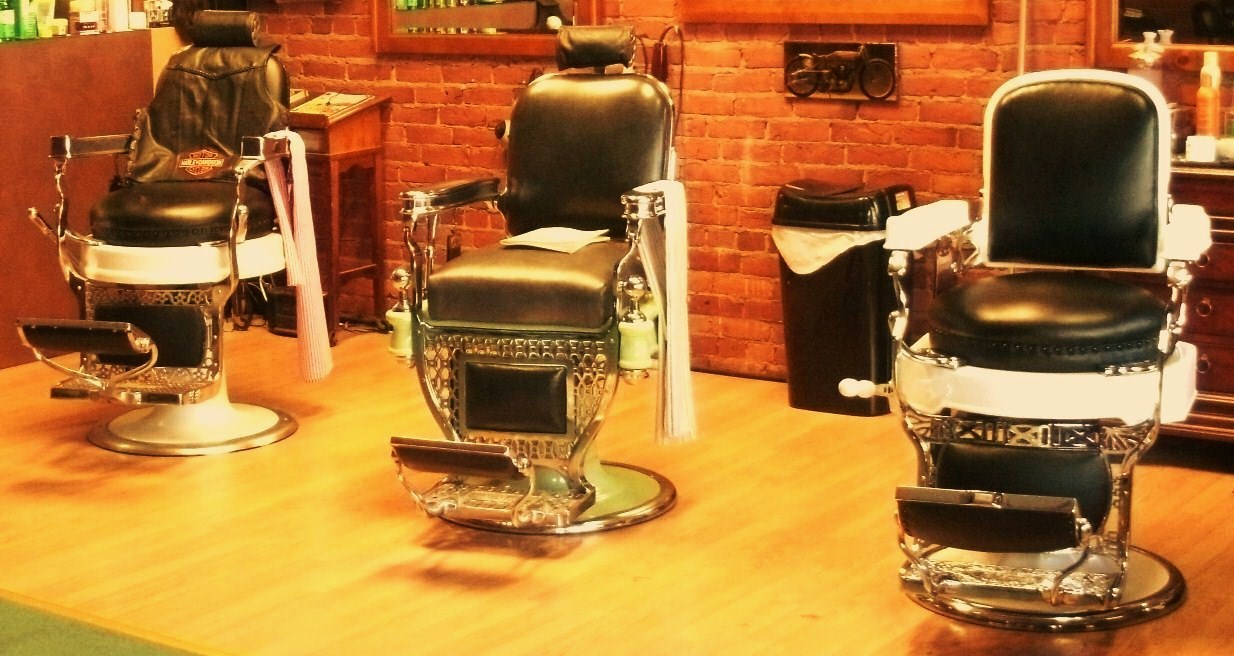 Modern barber chair - Historical Window From A Modern Day Barber