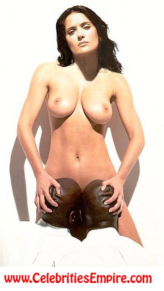 голые сальма хайек фото