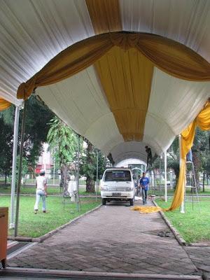 tempat perkawinan Bunga citra lestari & ashraf