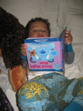 He loved his Blue's Clue's Book!