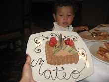 The resturant made this for Mateo for his bday!!