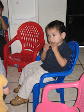 Mateo eating a cookie