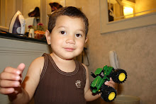 Mateo with his tractor