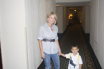 Mateo & Mommy heading to breakfast on Visa appointment day!