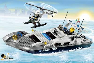 lego police boat
