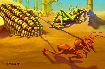 ant grasshopper