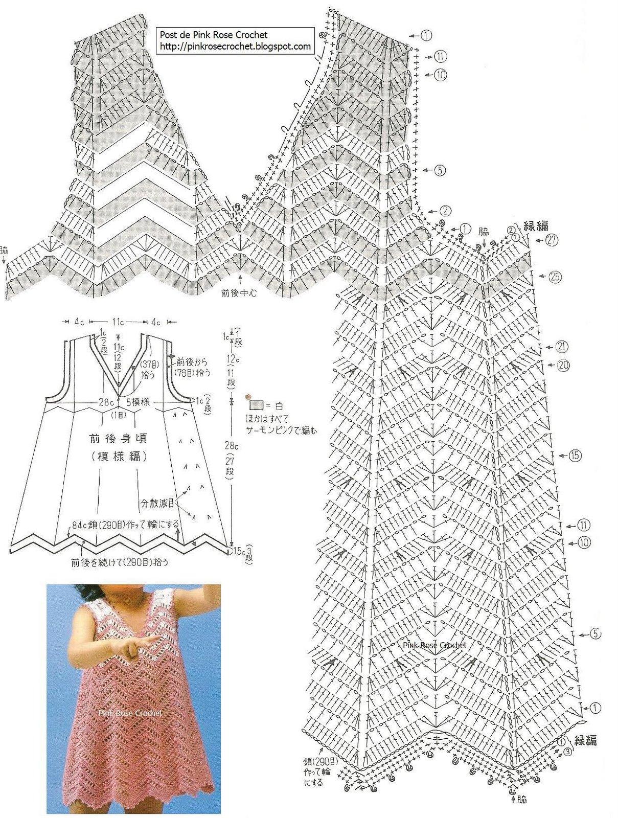 Схема сарафана вязанного крючком на девочку