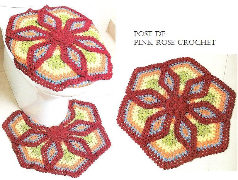 pink rose crochet 25 07 10 01 08 10. Black Bedroom Furniture Sets. Home Design Ideas