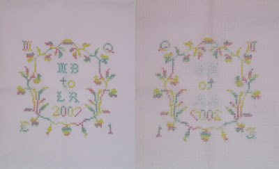 Front and Backside of the stitched piece