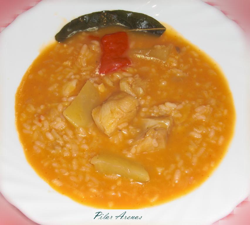 Patatas con arroz y bacalao thermomix utilizando - Patatas en caldo con bacalao ...