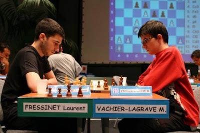 Laurent Fressinet et Maxime Vachier-Lagrave au Championnat de France d'échecs 2008