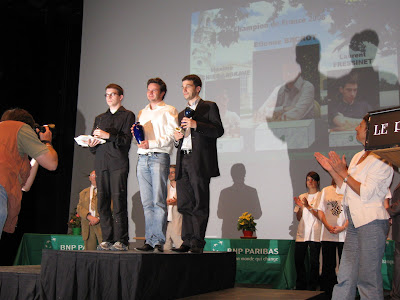 Le podium du championnat de France d'échecs - photo Chess & Strategy