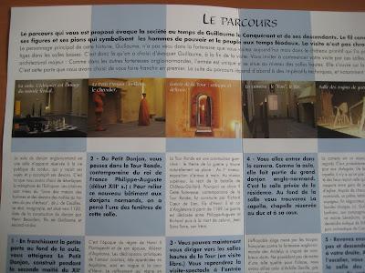 le parcours proposé au Château Guillaune le Conquérant, sur le thème des échecs
