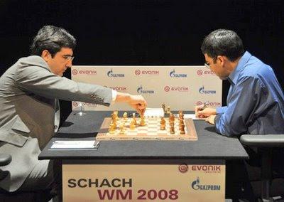 L'affiche Kramnik - Anand au championnat du monde d'échecs 2008