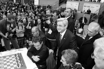 Les premiers échiquiers de l'Arménie, Levon Aronian et Vladimir Akopian