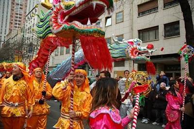 Défilé à Paris pour le nouvel an chinois