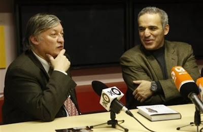 Anatoly Karpov et Garry Kasparov