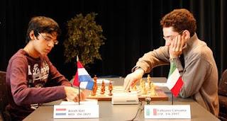 Echecs à Bienne : Caruana - Giri © site officiel