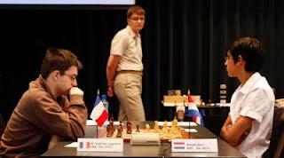 Echecs à Bienne : Anish Giri face à Maxime Vachier-Lagrave © site officiel