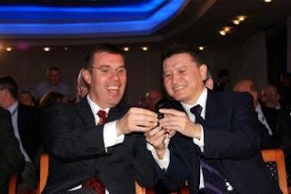 Echecs à Plovdiv : les Présidents de la Fide Kirsan Ilyumzhinov, et de l'ECU Silvio Danailov
