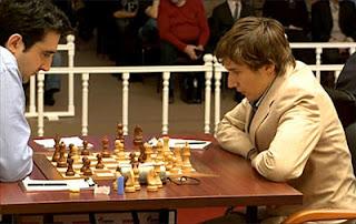 Echecs en Russie : Karjakin 1-0 Kramnik © Anna Burtasova