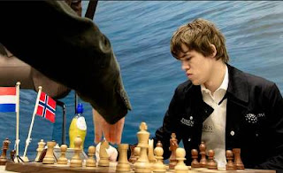 Echecs au Pays-Bas : Magnus Carlsen - photo Fred Lucas