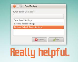 GNOME Panels restore
