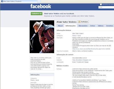 Pitaco de Loira:Facebook também tem o Grupo do Almir Sater Violeiro