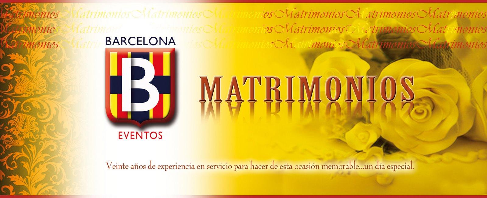 MATRIMONIOS BARCELONA EVENTOS