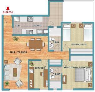 Instalaciones electricas residenciales for Plano de cocina sencilla