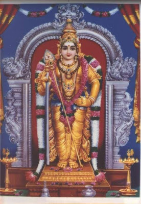 lord murugan in blessing form