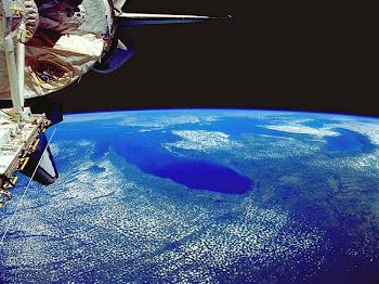 Planeta Terra Visto de Um Satelite