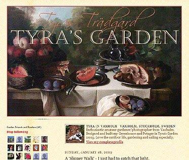 Tyra's Garden, Garden blog, garden blogger