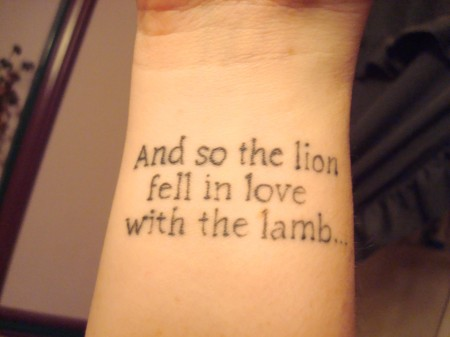 rihanna quote tattoo. literary