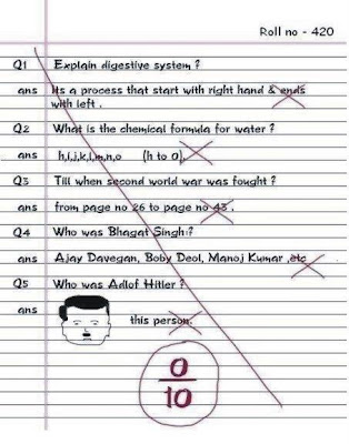 funny test paper