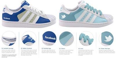 zapatillas adidas de facebook y twitter
