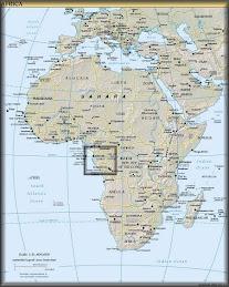Gabon, Africa map