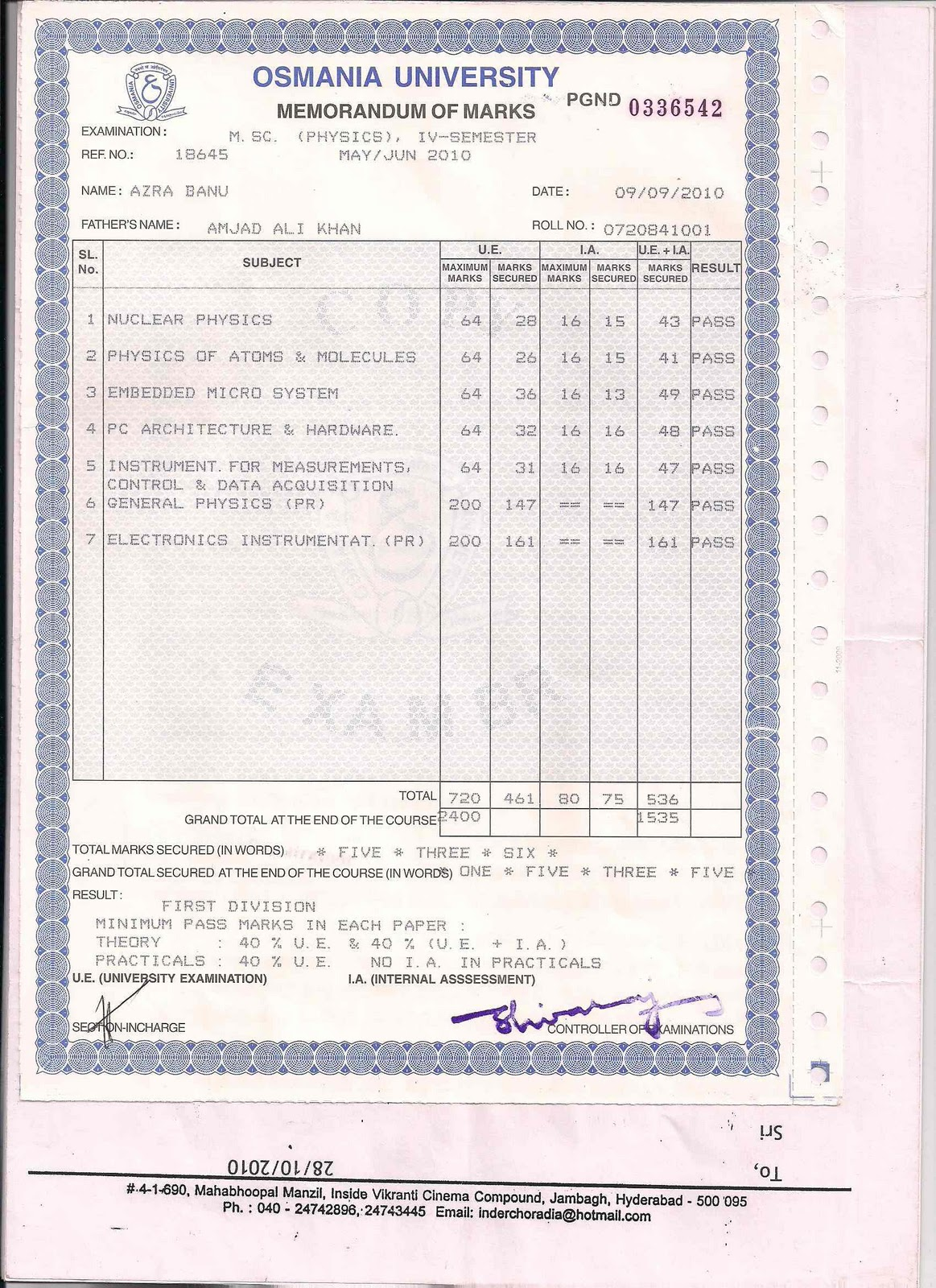 Andhra university degree certificate sample image collections andhra university degree certificate sample choice image andhra university degree certificate sample choice image sample bcom yadclub Image collections