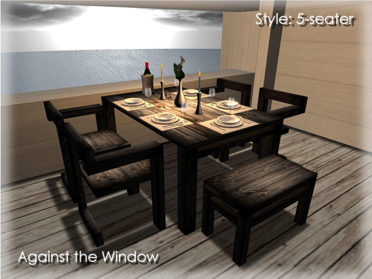 Elegant Dining Table Set Attach OBF Color Picker HUD default on Top left and click color palette You can freely pick up color like on Second Life edit