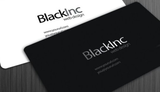 Blackinc business card PSD full