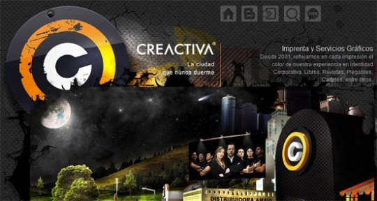 Creactiva beautiful flash website