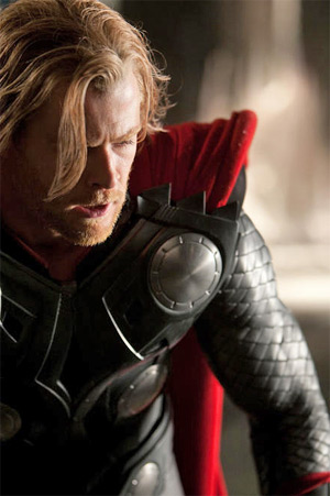 chris hemsworth thor movie. The Thor footage shown at the