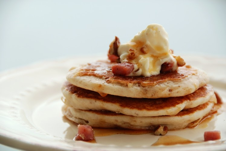 ... Exposed! Savory Chestnut Pancakes with Pancetta and Creme Fraiche