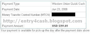 Adsense Proof of Payment