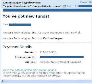 Kontera Proof of Payment