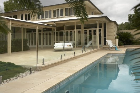 Samford Valley House Outdoor Tiles v Pavers