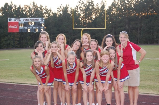 Bridge Middle School Cheerleading team! Right after we got first ...