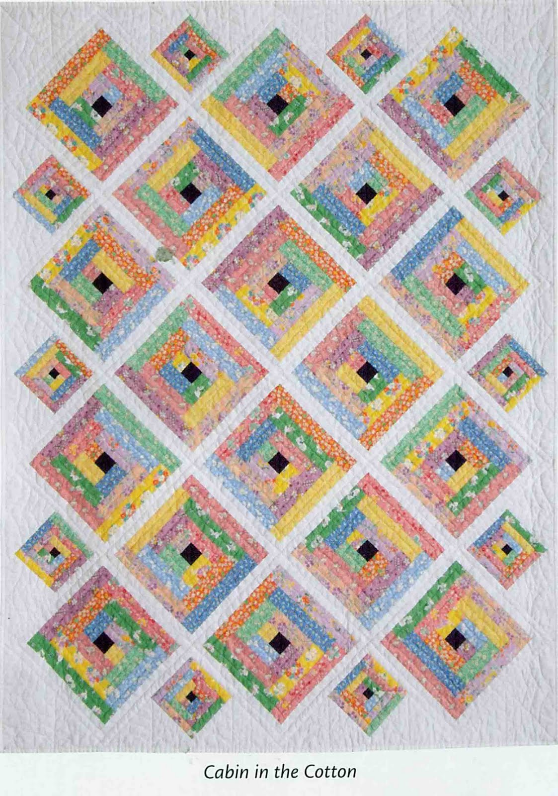 BLOCK HEAD: Vol 2 - Project 5 - Cabin in the Cotton - Julie's Quilt : the cotton quilt - Adamdwight.com