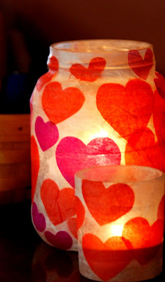 jar candle holding for valentine